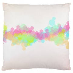 Abstract Color Pattern Colorful Large Cushion Case (one Side) by Onesevenart
