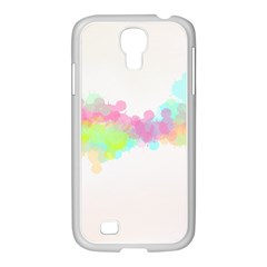 Abstract Color Pattern Colorful Samsung Galaxy S4 I9500/ I9505 Case (white) by Onesevenart