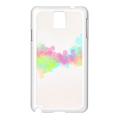 Abstract Color Pattern Colorful Samsung Galaxy Note 3 N9005 Case (white) by Onesevenart