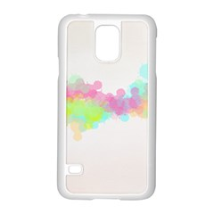 Abstract Color Pattern Colorful Samsung Galaxy S5 Case (white) by Onesevenart