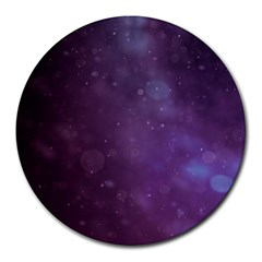 Abstract Purple Pattern Background Round Mousepads by Onesevenart