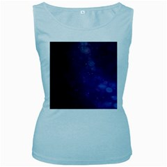 Abstract Purple Pattern Background Women s Baby Blue Tank Top by Onesevenart
