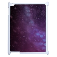 Abstract Purple Pattern Background Apple Ipad 2 Case (white) by Onesevenart