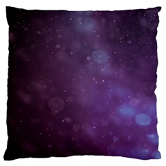 Abstract Purple Pattern Background Large Flano Cushion Case (one Side) by Onesevenart
