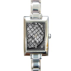 Architecture Roof Structure Modern Rectangle Italian Charm Watch by Onesevenart