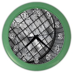Architecture Roof Structure Modern Color Wall Clocks by Onesevenart