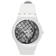 Architecture Roof Structure Modern Round Plastic Sport Watch (m) by Onesevenart