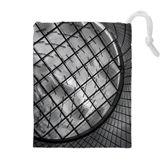 Architecture Roof Structure Modern Drawstring Pouches (extra Large) by Onesevenart