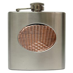 Armchair Folder Canework Braiding Hip Flask (6 Oz) by Onesevenart