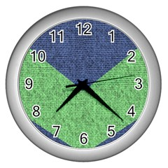 Arrow Texture Background Pattern Wall Clocks (silver)  by Onesevenart