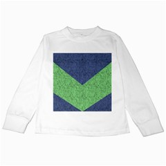 Arrow Texture Background Pattern Kids Long Sleeve T Shirts by Onesevenart