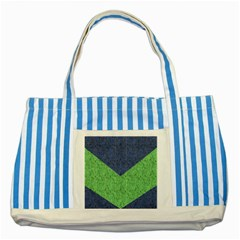 Arrow Texture Background Pattern Striped Blue Tote Bag by Onesevenart