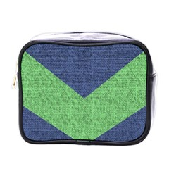 Arrow Texture Background Pattern Mini Toiletries Bags by Onesevenart