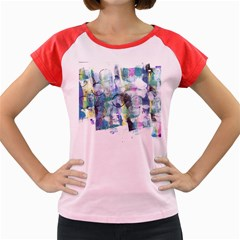 Background Color Circle Pattern Women s Cap Sleeve T Shirt by Onesevenart