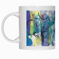 Background Color Circle Pattern White Mugs by Onesevenart