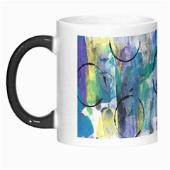 Background Color Circle Pattern Morph Mugs by Onesevenart