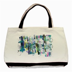 Background Color Circle Pattern Basic Tote Bag (two Sides) by Onesevenart