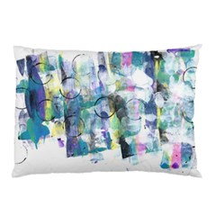 Background Color Circle Pattern Pillow Case by Onesevenart