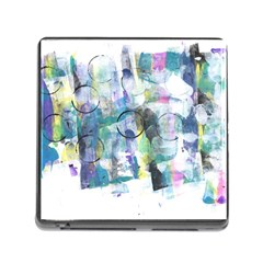Background Color Circle Pattern Memory Card Reader (square) by Onesevenart