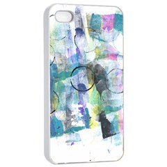 Background Color Circle Pattern Apple Iphone 4/4s Seamless Case (white) by Onesevenart