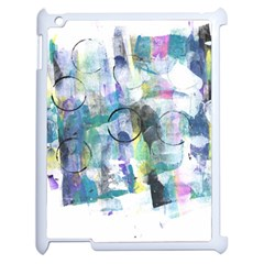 Background Color Circle Pattern Apple Ipad 2 Case (white) by Onesevenart