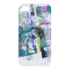 Background Color Circle Pattern Apple Iphone 4/4s Premium Hardshell Case by Onesevenart