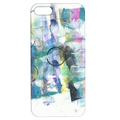 Background Color Circle Pattern Apple Iphone 5 Hardshell Case With Stand by Onesevenart