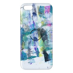 Background Color Circle Pattern Apple Iphone 5 Premium Hardshell Case by Onesevenart