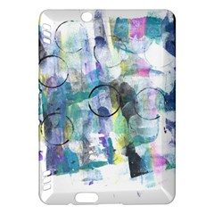 Background Color Circle Pattern Kindle Fire Hdx Hardshell Case by Onesevenart