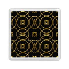Black And Gold Pattern Elegant Geometric Design Memory Card Reader (square)  by yoursparklingshop