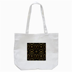 Black And Gold Pattern Elegant Geometric Design Tote Bag (white) by yoursparklingshop