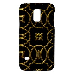 Black And Gold Pattern Elegant Geometric Design Galaxy S5 Mini by yoursparklingshop