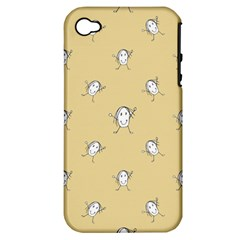 Happy Character Kids Motif Pattern Apple Iphone 4/4s Hardshell Case (pc+silicone) by dflcprints