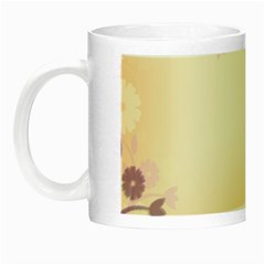 Background Floral Background Night Luminous Mugs by Onesevenart