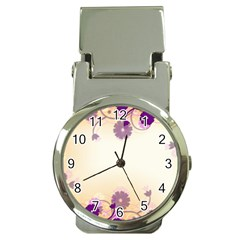 Background Floral Background Money Clip Watches by Onesevenart