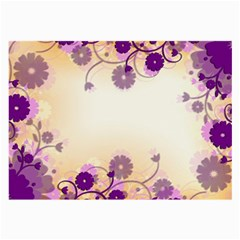 Background Floral Background Large Glasses Cloth by Onesevenart