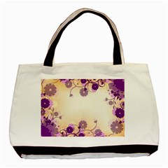 Background Floral Background Basic Tote Bag (two Sides) by Onesevenart