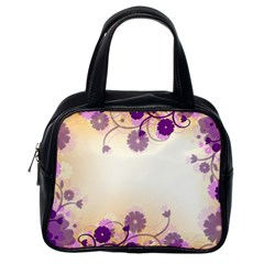 Background Floral Background Classic Handbags (one Side) by Onesevenart