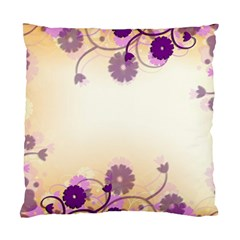 Background Floral Background Standard Cushion Case (two Sides) by Onesevenart