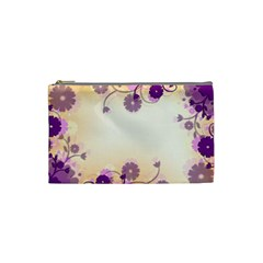 Background Floral Background Cosmetic Bag (small)  by Onesevenart