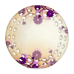 Background Floral Background Ornament (round Filigree) by Onesevenart