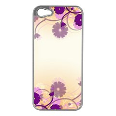 Background Floral Background Apple Iphone 5 Case (silver) by Onesevenart