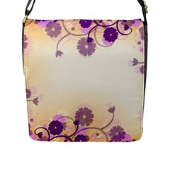 Background Floral Background Flap Messenger Bag (l)  by Onesevenart