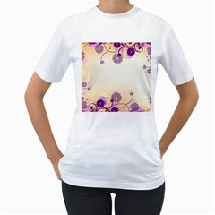 Background Floral Background Women s T Shirt (white)  by Onesevenart