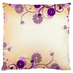 Background Floral Background Large Flano Cushion Case (two Sides) by Onesevenart