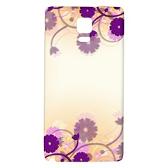 Background Floral Background Galaxy Note 4 Back Case by Onesevenart