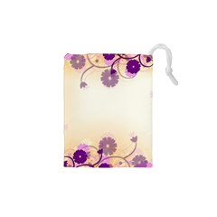 Background Floral Background Drawstring Pouches (xs)  by Onesevenart