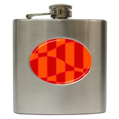 Background Texture Pattern Colorful Hip Flask (6 Oz) by Onesevenart