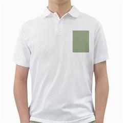 Background Pattern Green Golf Shirts by Onesevenart