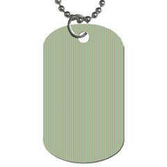 Background Pattern Green Dog Tag (one Side) by Onesevenart